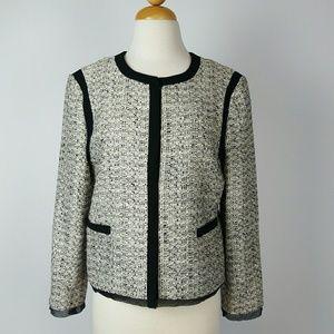 ANN TAYLOR Tweed Blazer Size 8
